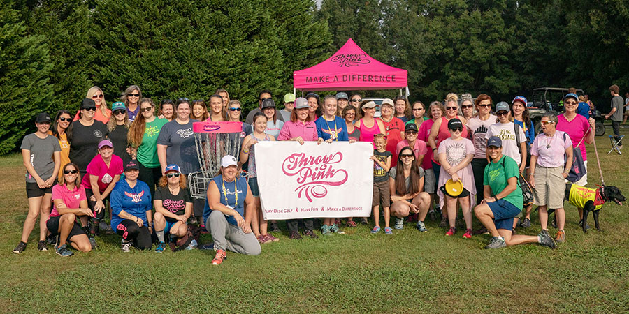 Female disc golf participation at 2019 USDGC Throw Pink event