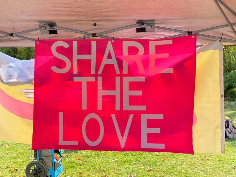 Share the Love disc golf tournament banner