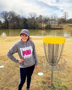 women disc golf basket.