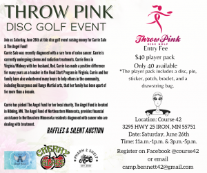 Throw Pink Event Flyer