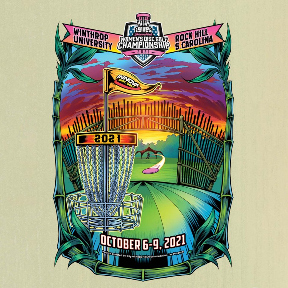 2021 Throw Pink Womens Disc Golf Championship poster